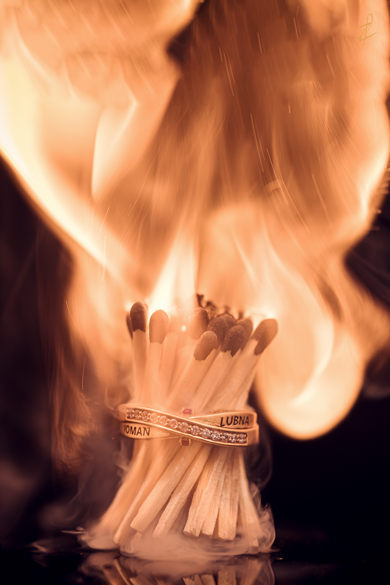 Rings on fire